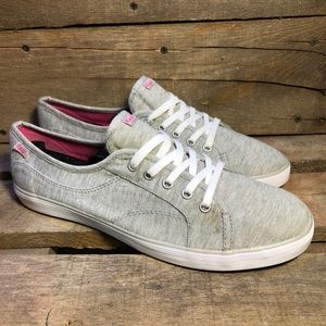 Keds Gray Canvas Lace Up Sneakers
